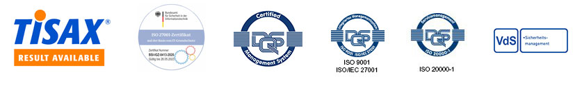 GTS Zertifizierungen